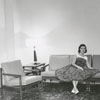 Sarah Tesch in the Mary Babcock dormitory at Salem College, 1957.