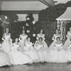 First Debutant Ball in Winston-Salem, 1956. 1st row: Elizabeth Fenwick, Margaret Boaz, Shannon Harper, Sara Pullen, Nancy Graves, Mary Shepherd, Betsy Babcock, Mary Hill, Jane Irby, and Florence Fearrington.