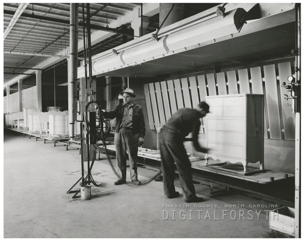 B. F. Huntley Furniture Company at 1201 North Patterson Avenue, 1956.