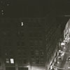 Night aerial showing intersection of West Fourth and North Liberty Streets, 1956.