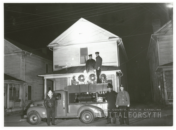 Fire truck with lights, 1941.