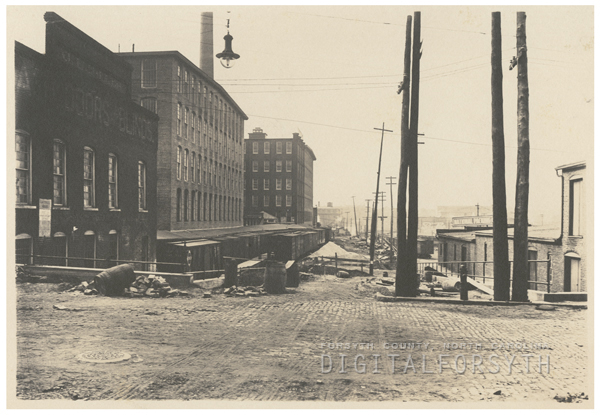 View of Depot Street (Patterson Avenue).
