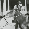 Nancy and Mary Reynolds on a pony.
