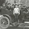 Car full of young men.