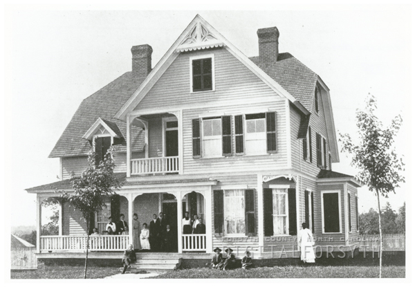 Female dormitory in the Clemmons School, 1908.