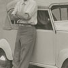 Frank Jones and his Crosley automobile, 1941.