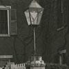 Lamp post in Salem, 1938.