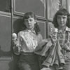Girls with ice cream at the fair, 1948.