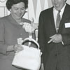 Governor and Mrs. Terry Sanford with Gordon Hanes, 1961.