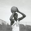 Earl Monroe, basketball player for Winston-Salem State University, 1967.