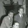 Charles Keaton (at the piano), Joe King (standing left), and unidentified man, 1949.