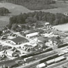 Aerial view of Rural Hall, 1958.