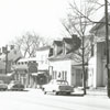 Buildings on South Main Street that were removed in the Old Salem restoration, 1956.