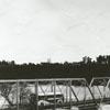 Bus traveling across the Yadkin River bridge, 1937.
