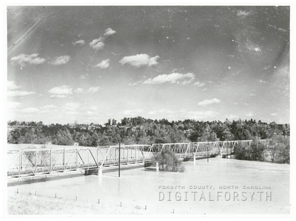 The Yadkin River bridge, 1937.