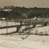 Yadkin River bridge with snow.