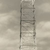 WSJS radio tower at Salem Creek, 1941.
