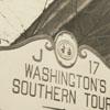 Marker at Salem Tavern in Old Salem concerning President George Washington's visit in 1791.