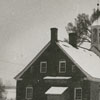 Bethabara Moravian Church in the snow, 1938.