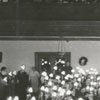 Interior of Calvary Moravian Church during a Christmas lovefeast.