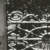 Decorative fence between Home Moravian Church and Main Hall in Salem, given by the Salem College class of 1897.