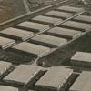 Aerial showing R. J. Reynolds Tobacco Company tobacco sheds, 1938.