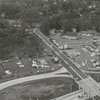 Aerial view of Interstate 40 and Stratford Road, 1962.