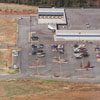 Aerial view of Sam's Warehouse Club, 1989.