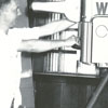 WTOB-TV engineers, Hassel Bailey and Garland Ray Vogler, 1953.