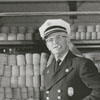 Fire Chief M.G. Brown at his retirement, 1955..