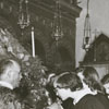 Easter service at the Greek Orthodox Church, 1950.