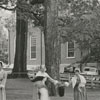 Dedication of the Market Fire House in Old Salem, 1957.