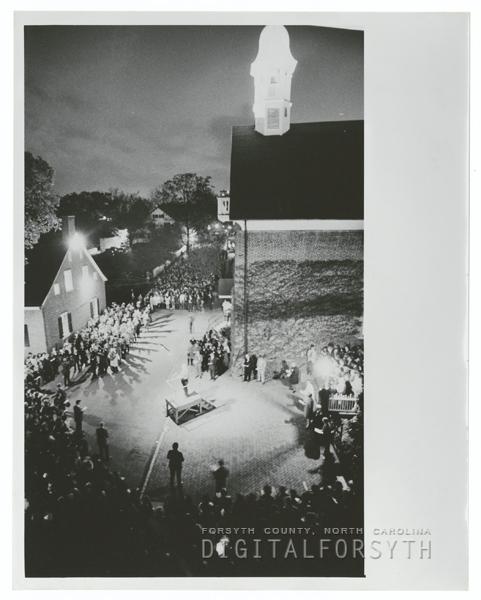 Easter Sunrise Service at God's Acre in Salem, 1973.