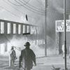 Fire at W. G. White & Company Grocery and Brown's Tobacco Warehouse, 1969.
