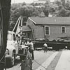 House moving accident on West 11th Street, 1958.