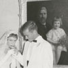 Wedding reception of Betsy Babcock and George Myatt at Reynolda House, 1958.