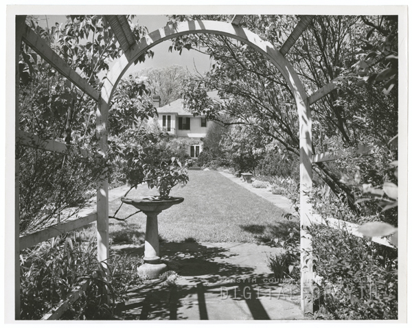 Mrs. Burton Craige's garden at her home on Cascade Avenue, 1952.