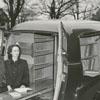 Carnegie librarians Mae Kreeger (Tillman), Jeannette Trotter, Frances Ann Beale and Margaret Moran with bookmobile, 1949.