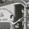 Forsyth County Public Library bookmobile, 1953.