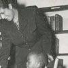 George Moses Horton Branch Library with librarian Nell Wright and Woodruff Crosby, 1948.