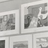 Art exhibit in East Winston Branch Library, 1956.