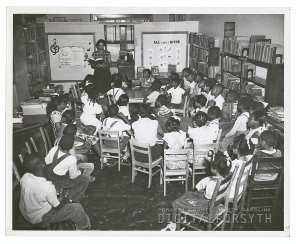 Children's story hour at George Moses Horton Branch Library, 1952.