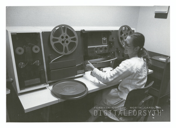 Audio-Visual Department in the Forsyth County Public Library.