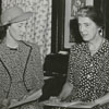 Carnegie Librarian, Janet Berkeley, with Margaret Gibson, 1941.