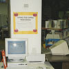 Apple computer workstation in the Children's Department.
