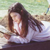Diana Tursi in the new Children's Activity Area, 1992.