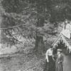 Salem College spring house and Salem students, 1903.