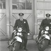 Policemen with their new motorcycles, 1940.