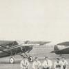 Airplane mechanics at Miller Municipal Airport, 1930.