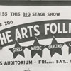 Advertisement (billboard) for the Arts Follies, 1952.